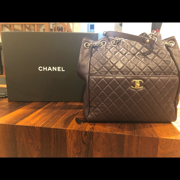 CHANEL Handbags - Chanel bucket back. Dark purple.